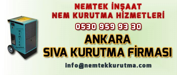 Ankara Sıva Kurutma Firması