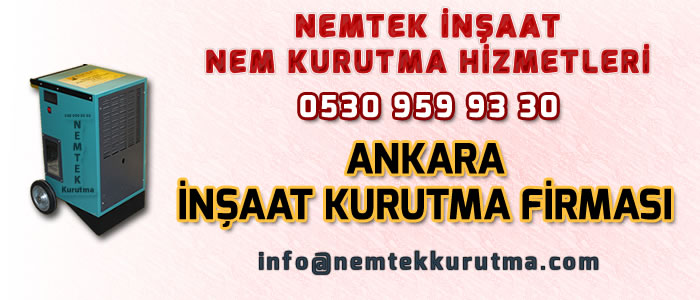 Ankara İnşaat Kurutma Firması