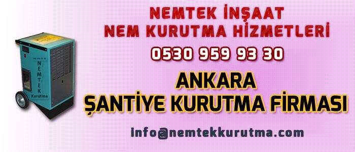 Ankara Şantiye Kurutma Firması