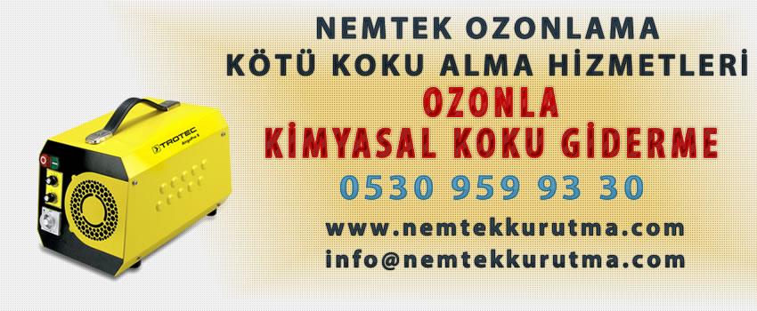Ozonla Kimyasal Koku Giderme